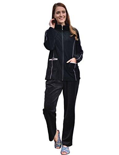 246d8a127db6 raikou tuta da ginnastica raiku pigiameria velour con cerniera lampo per  donne atletiche vestiti per il