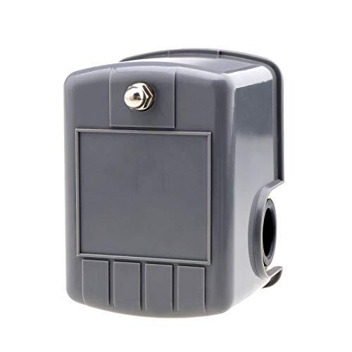 SING F LTD Wasserpumpen-Druckschalter, 2-polig, 6,35 mm, NPT-Anschluss, 40-60 PSI verstellbar für Gartenwasserpumpe