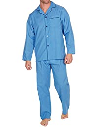 55d90ce185 Mens Insignia Plain Poly Cotton Pyjamas Set Traditional Classic Cut