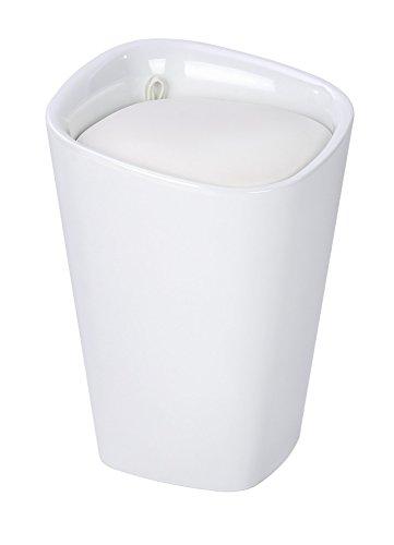 Wenko 21988100 Candy Badhocker mit abnehmbarem Wäschesack, Fassungsvermögen, 20 L, eckig, Kunststoff, 35 x 50 x 35 cm, weiß - 6