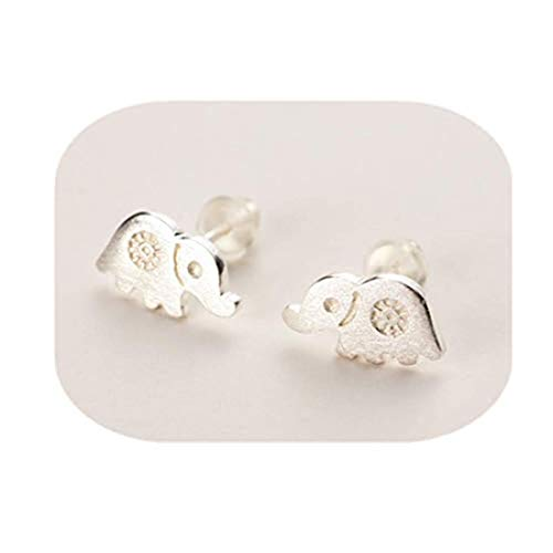 Pendientes de elefante, pendientes de elefante de plata, regalo para los amantes...