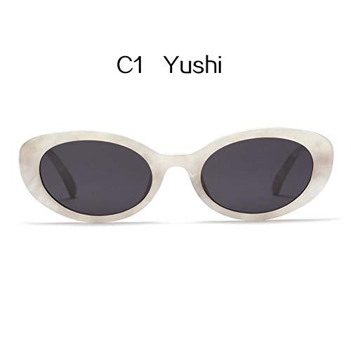 YLNJYJ Sonnenbrillen Kaleidoskop Brille Cateye Sonnenbrille Frauen Oval Sonnenbrille Vintage Rot Rosa Objektiv Brille Weibliche Kleine Cat Eye Sunglas