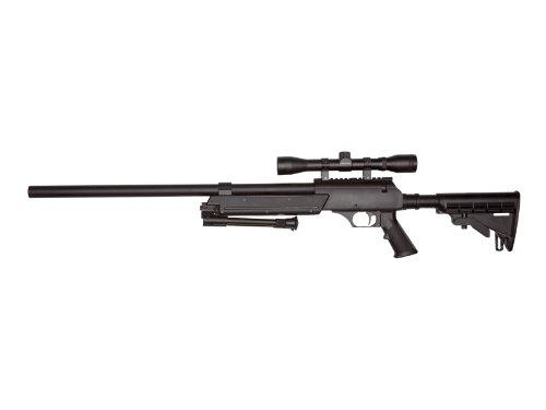Softair Sniper komplett Set mit Zweibein & Zielfernrohr, Urban Sniper Well MB 06 Set