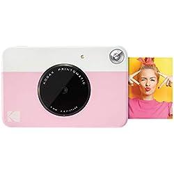 Kodak Printomatic - Appareil Photo à Impression Instantanée avec Papier Autocollant Zink 5 cm x 7,6 cm, Rose