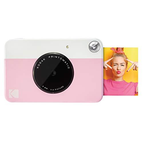 Kodak PRINTOMATIC Digitale Sofortbildkamera, Vollfarbdrucke auf Zink 2x3-Fotopapier mit Sticky-Back-Funktion - Drucken Sie Memories Sofort (Rosa)