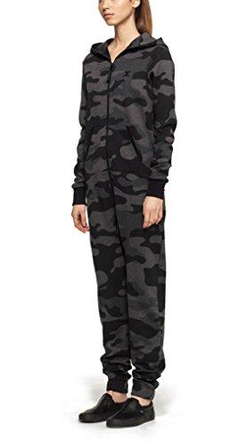 Onepiece Damen Jumpsuit Camouflage, Grau (Grey Melange)