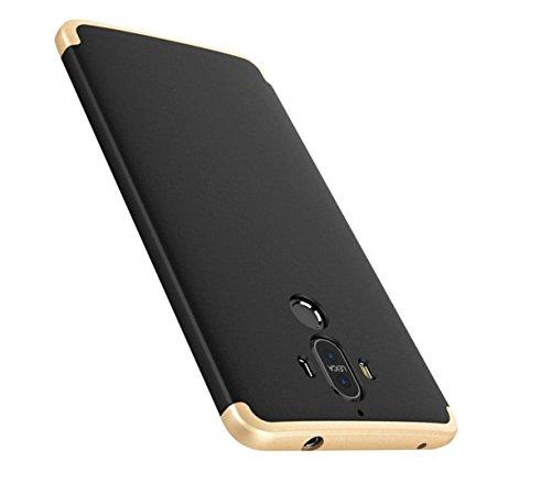 "JEPER Coque Huawei Mate 9, 360° Protection Intégrale PC 3 en 1 Ultra Mince Anti-Choc Anti-Scratch Etui Housse pour Telephone Mate 9 Case 5.9"" (Huawei Mate 9, Noir+Or)"