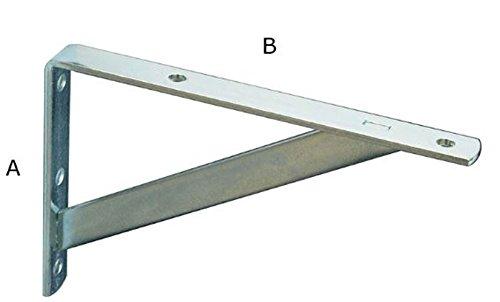 20 X Regalträger 10 cm X 30 cm, Dicke 3 mm Träger Regal Winkel Konsole Regalhalter