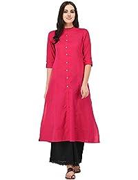 6137cc55159 RADANYA Women s Kurti Solid Red Rayon Kurta Kurti Indian Party Wear Tunic  Custom Clothing