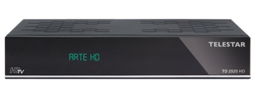 Telestar TD 2520 HD digitaler HDTV Satelliten Receiver (PVR-Ready, Alphanumerisches Display, HDMI, SCART, Ethernet, USB 2.0) schwarz