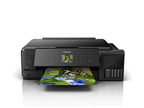 Epson EcoTank ET-7750 3-in-1 Tinten-Multifunktionsgerät (Kopie, Scan, Druck, A3, 5 Farben, Fotodruck, Duplex, WiFi, Ethernet, Display, USB 2.0), Tintentank, hohe Reichweite, niedrige Seitenkosten -