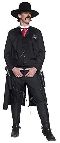 Smiffys Authentische Western Kollektion Sheriff Kostüm mit Jacke Oberteil Fliege und Abzeichen, ()