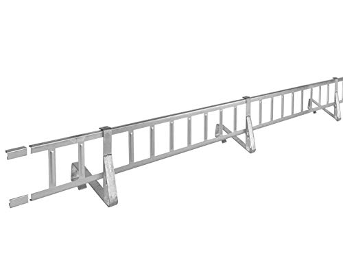 2,0 m Schneefanggitter-Set 9-teilig Rotbraun 225 kg pro Meter stark inkl. Auflageschutz Universal System blitzschnell montiert, Schneefangsystem Schneesicherung