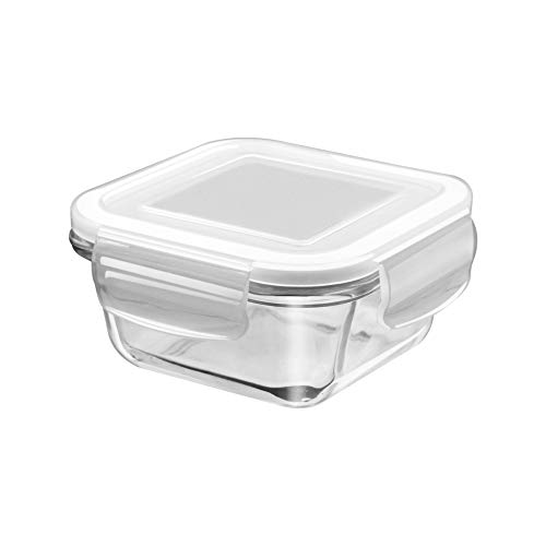 Treo By Milton Store Fresh Square Glass Storage Container, 665 ml