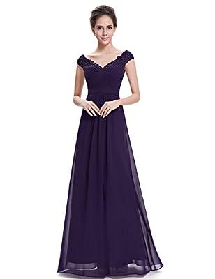 Ever Pretty Women's Elegant V-Neck Long Party Dress 08633