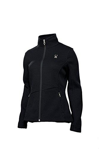 Spyder Endure Sweatshirt en maille polaire avec fermeture Éclair intégrale pour femme XS, S, M, L, XL ou XXL Noir - noir