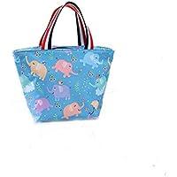 Preisvergleich für Yudanwin Leinwand-Lunch-Tasche Damen Kleine Mode Isolierung Lunchbox Tasche (Elefant)