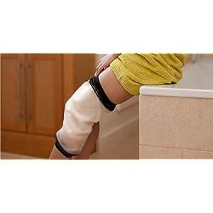 Knie Dusche, wasserdichte TPU für Erwachsene Dusche & Bad Bandage und Displayschutzfolie für Knie Wasserdicht Schutz zu Broken Knie Wunde, Verbrennungen 100% wiederverwendbar