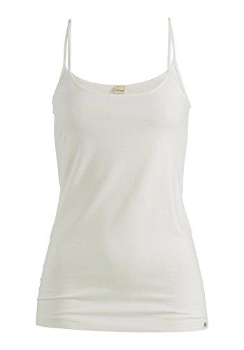 hessnatur Damen Spaghetti-Shirt Top PureLUX aus Bio Baumwolle Organic Cotton - unifarben Naturweiss