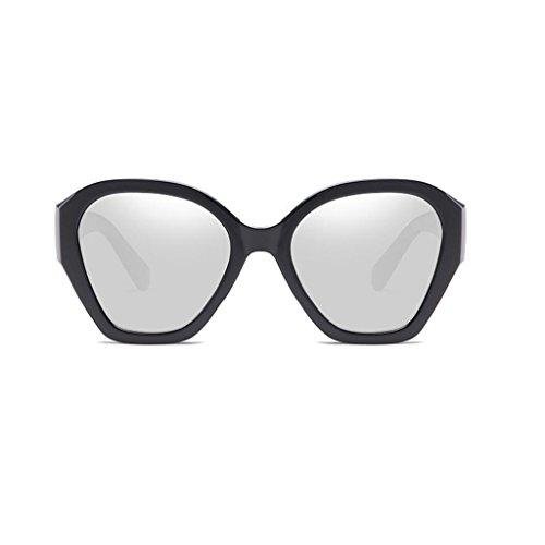 RLJJSH Sonnenbrillen farbige unregelmäßige Brillengestell Trend Bunte Sonnenbrillen Rahmenmaterial PC Sonnenbrillen Sonnenbrille (Farbe : Silber, größe : One Size)