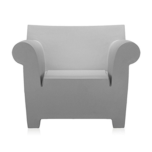 Kartell Bubble Club Sessel, Plastik, grau, 75 x 78 x 102 cm