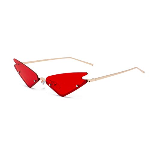 Makefortune 2024 Damen Männer Brille,Unisex mode kleine rahmen sonnenbrille vintage retro unregelmäßige form sonnenbrille Cat Eye Sonnenbrille aus Metall
