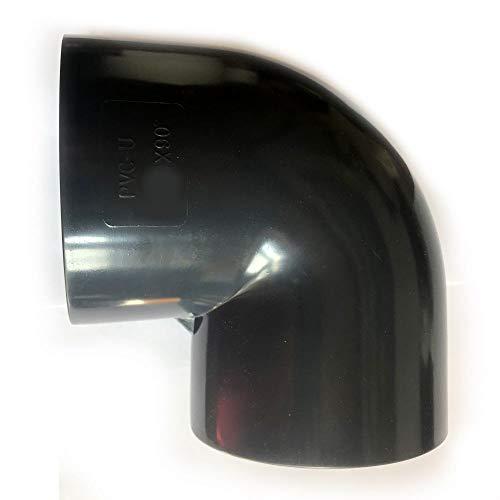 Adrenalin-Fishing PVC-U Bogen 40mm Fitting Winkel 90° Druckklasse PN 10 = 10 bar nach DIN 8063 mit 2 X Klebemuffe für Koiteich & Gartenteich