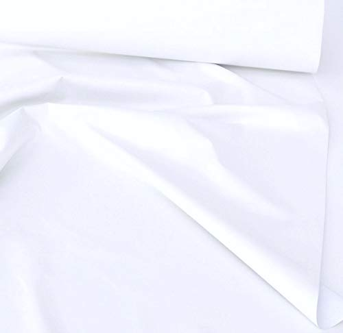 TOLKO Sonnenschutz Verdunklungsstoff Meterware | 100{4925af140393ba013100cce47c114d1eac4626420d4242cf2fe23871307baa05} Lichtdicht, zum Nähen für Verdunklungsvorhänge, Gardinen oder Verdunklungsrollo (Weiß)