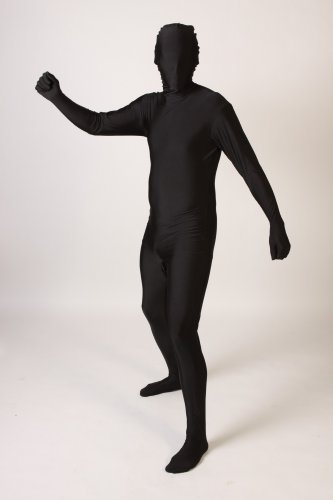 Foxxeo Original Lizenz Ganzkrperanzug Kostm Ganzkrper Anzug Fasching Gr. M-XL, Grße M-L;Farbe Schwarz