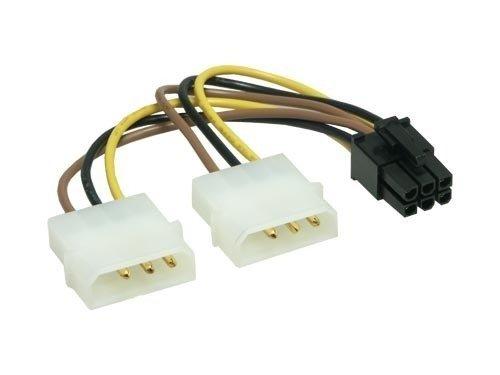 6-poliges-Grafikkarten-Stromkabel-Adapter-Strom-Kabel-PCIe-PCI-E-PCI-Express-PEG