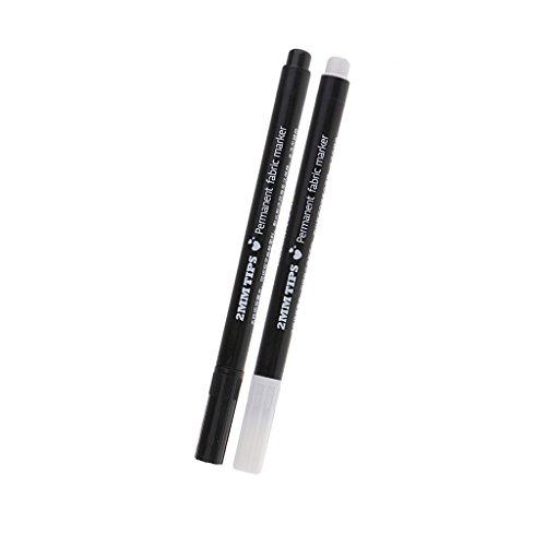 B Baosity 2Pcs Dauerhaft Trickmarker Markierstifte Fabric Marker für Stoff, Papier, Kunststoff, Leder, T-Shirts, Schuhe
