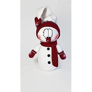 Herr Schneemann. Eine süße Hand gehäkelt Spielzeug oder Wohnkultur für Weihnachten