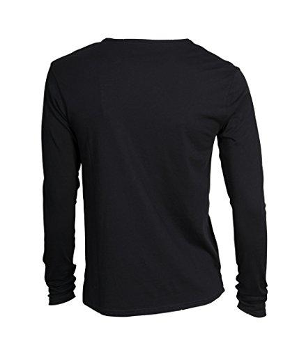 KIEFERMANN Herren Shirt Gregor Aus Baumwolle Schwarz 2 black