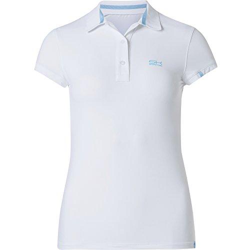 Sportkind Mädchen & Damen Tennis / Golf / Sport Poloshirt, weiss, Gr. 146