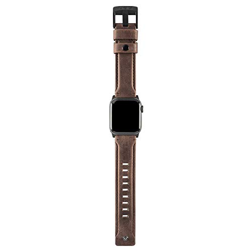 Urban Armor Gear Cuero Correa para Apple Watch (38mm) y Apple Watch (40mm) [Series 4 / Series 3 / Series 2 / Series 1, Correa reemplazable] - Marron