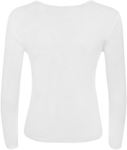 WearAll - Haut à manches longues - Hauts - Femmes - Tailles 36 à 42 Blanc