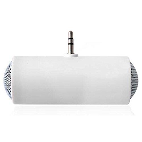 Preisvergleich Produktbild Niedliche weiß Tragbarer 3, 5 mm Mini-Stereo-Lautsprecher für iPod iPhone MP3 MP4 Player