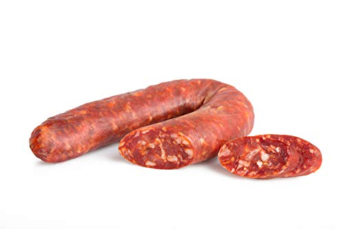 Spicy Sausage, with Chili Pepper, Italian Food by Salumi Pasini, 300 gr