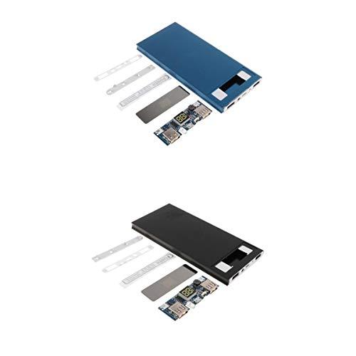 Almencla 2X USB Anschlüsse 756512 DIY Tragbare Batterie Box Digital Display Power Bank Fall Dual-desktop Charging Cradle