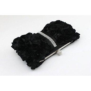 Damenmode Seide magnetische Schnalle Abendessen Tasche Black