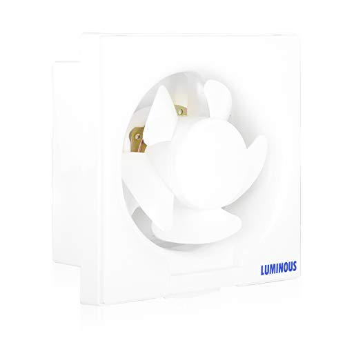 Luminous Vento Deluxe 150mm Exhaust Fan for Home, Office, Kitchen and Bathroom (11 inches, White/Black)
