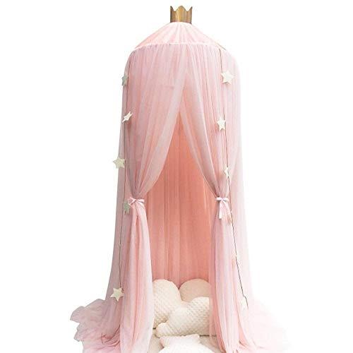 el, extra großes Zelt for Doppel- bis Kingsize-Betten, feinste Löcher, quadratischer Netzvorhang, Einträge, einfache Installation (Color : Pink) ()