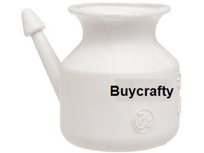 buycrafty Traveller 's Neti Pot für Nasale Reinigung, Little Teekannen mit lang Ausgießern, Wirtschaft, leichtes Neti Pot   Handlich, kompakt & Travel Freundlicher - Neilmed Sinus Rinse Kit
