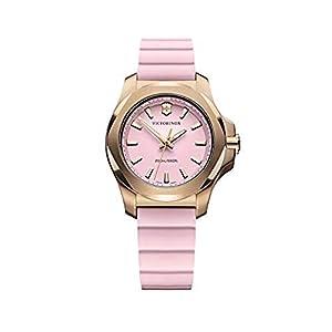 Victorinox Mujer I.N.O.X. V – Reloj de Acero Inoxidable/Caucho de Cuarzo analógico de fabricación Suiza 241807