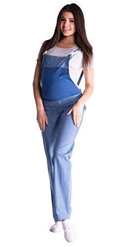 Mija - Denim Jeans Latzhose Umstandsjeans mit Bauchband 3018 Hellblau Denim