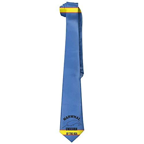 Pillowcase shop Narwhal Unicorn Of The Sea Men's Polyester Silk Wide Ties/Necktie/Necktie Ties