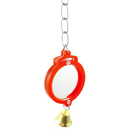 Hearsbeauty Livecity - Specchio per Uccelli, a Forma di Cuore, con Clip