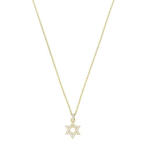 7f5e2b8e9b368 Swarovski Women's Gold Plated White Star of David Pendant
