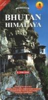 Bhutan Himalaya 1 : 390 000: Trekking Routes: Chelela - Dagala - Druk Path - Gangte - Jhomolhari - Manas - Punakha - Sakteng - Snowman