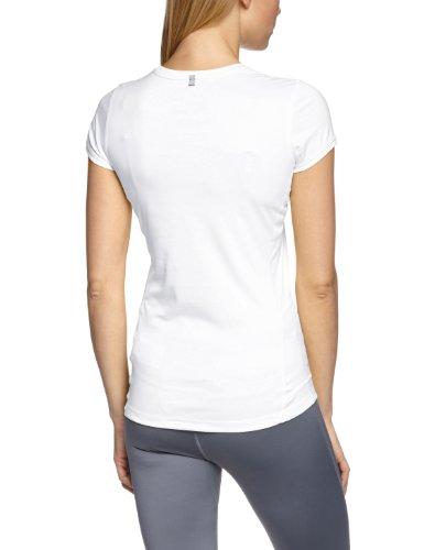 Nike T-shirt de sport à manches courtes Miler Crew, spécial course, pour femme Blanc Blanc/argent à reflets 34 Blanc/argent à reflets